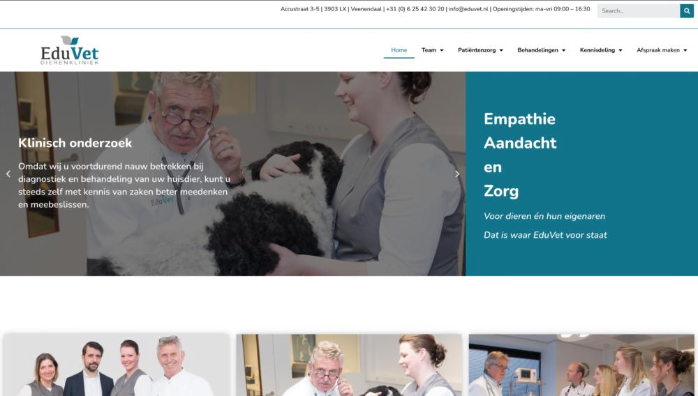 Eduvet website in Elementor